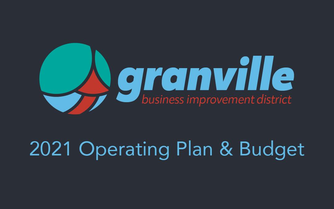 2021 BID Operating Plan & Budget